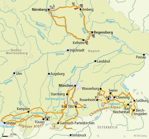 Bayern Radwege Karte Service Velociped
