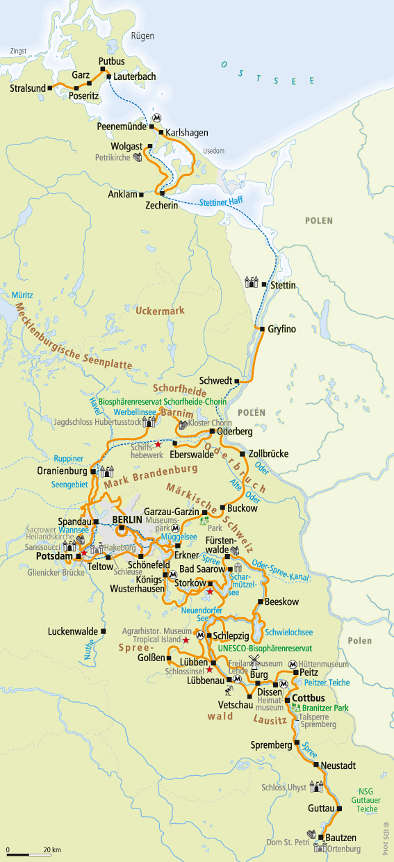 Radweg Berlin Usedom Karte.Berlin Und Umgebung Radweg Karte Service Velociped