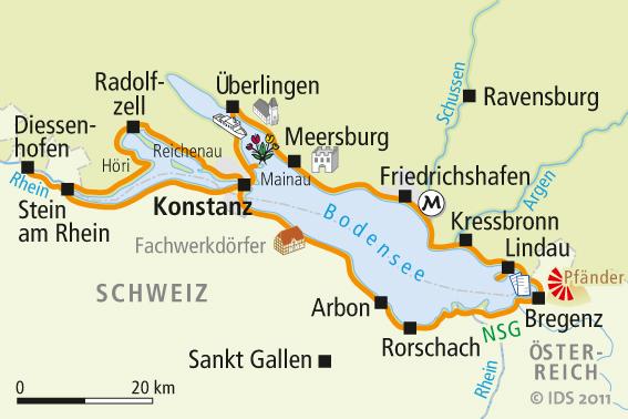 Insel Reichenau Karte.Bodensee Radweg Karte Reise Service Velociped