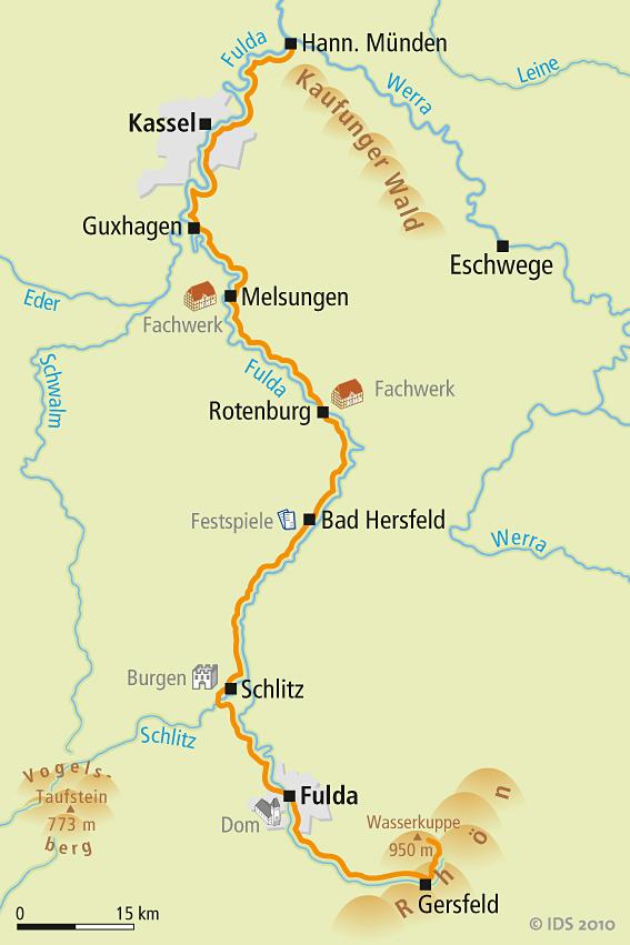 Fulda Radweg Karte Reise Service Velociped