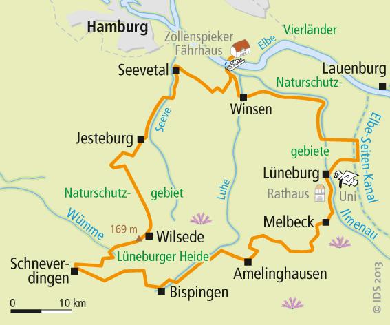 Fahrradwege Ostfriesland Karte.Lüneburger Heide Radweg Karte Rundtour Velociped