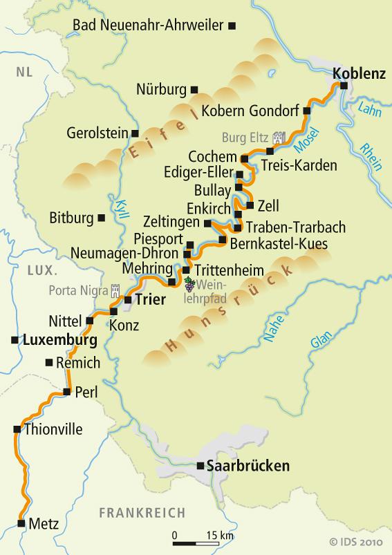 Mosel Radweg Karte Karte Metz Koblenz Velociped