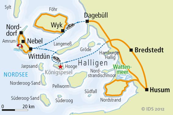 Nordfriesische Inseln Karte.Nordseekustenradweg Karte Reise Service Velociped