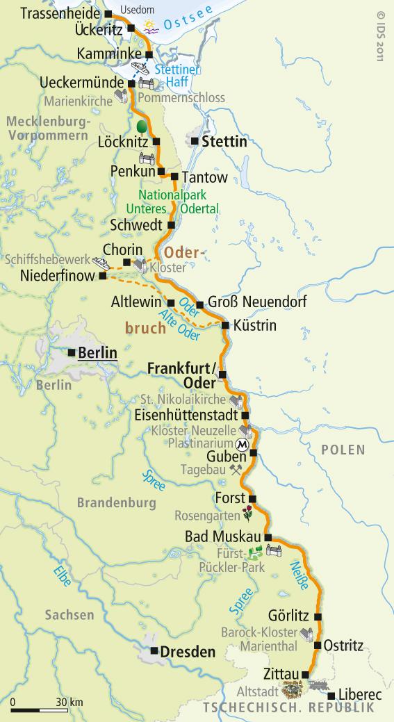 Mosel Radweg Karte Pdf.Oder Neiße Radweg Karte Zittau Bis Usedom Velociped