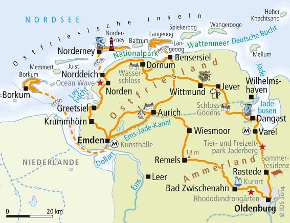 Ostfriesland Radweg Karte Service Velociped