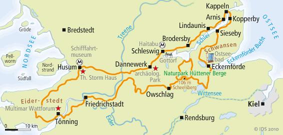 Fahrradwege Ostfriesland Karte.Ostsee Nordsee Radweg Karte Velociped