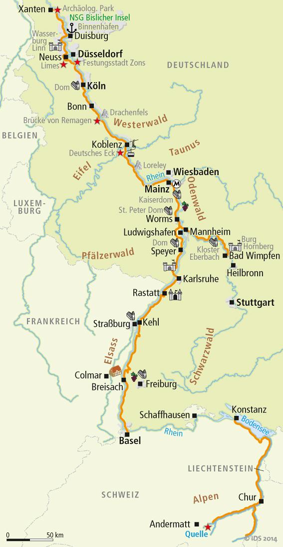 der rhein karte Rhein Radweg Karte   Radweg Karten – Velociped