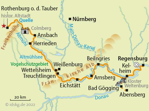 altmühltal radweg karte pdf Altmühl Donau   Radreise Altmühltal Radweg Bayern – Velociped