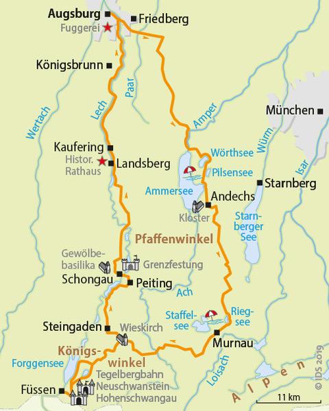 Bavarian Lakes And Romantic Road Bike Path Bike Tour Bike Tour