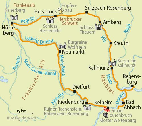 bayern karte flüsse städte