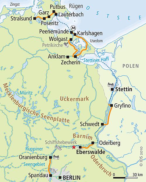Radreise berlin usedom r gen per rad schiff velociped for Kuchen stralsund