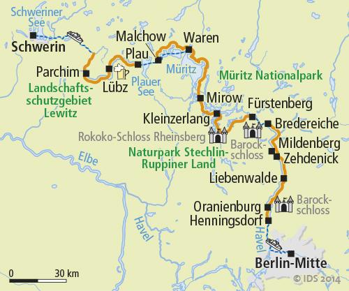 Radweg Mecklenburgische Seenplatte Karte.Radreise Schwerin Berlin Radurlaub Radtour Rad Schiff Velociped