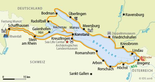 Bodensee Radweg Rheinfall Schaffhausen Radreise Radtour Velociped