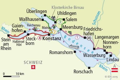 Insel Reichenau Karte.Bodensee Sternradtour Radreise Radurlaub Konstanz Velociped