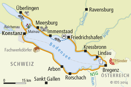 Lake constance obersee and the alps bike trip 6 days for Bodensee karte