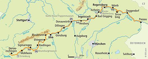 Donauradweg Ulm Passau Karte.Deutsche Donau Radweg Donauworth Passau Radreise Velociped