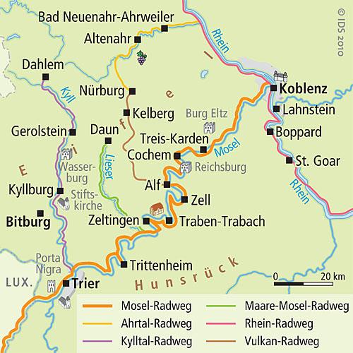 Mosel Karte Mit Allen Orten.Mosel Radweg Frei Wie Der Wind Radurlaub Radtour Velociped