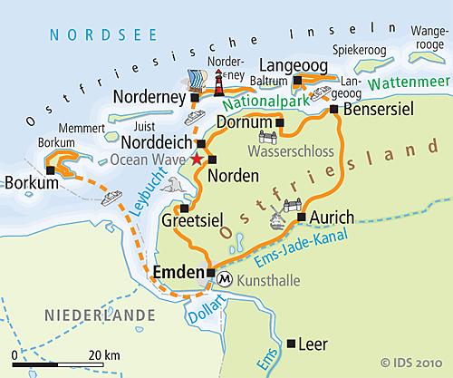 Juist Karte.East Frisia Bike Tour Island Hopping Borkum Norderney Langeoog
