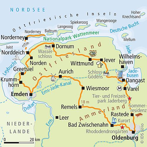 Fahrradwege Ostfriesland Karte.Radwege Ostfriesland Karte Kleve Landkarte