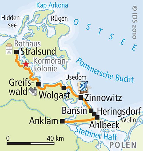 Usedom Karte Deutschland.Ostsee Radweg Stralsund Usedom Radreise Radurlaub Velociped
