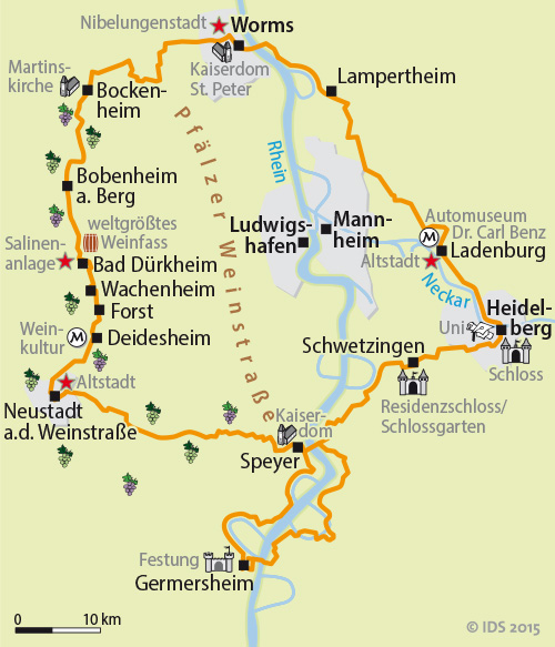 neustadt germany map with Pfaelzer Weinstrasse Und Rhein Radweg on Tourismus Guide as well Rhineland Palatinate as well 937777 besides Karte von mainfranken 1 662 additionally Nienburg.
