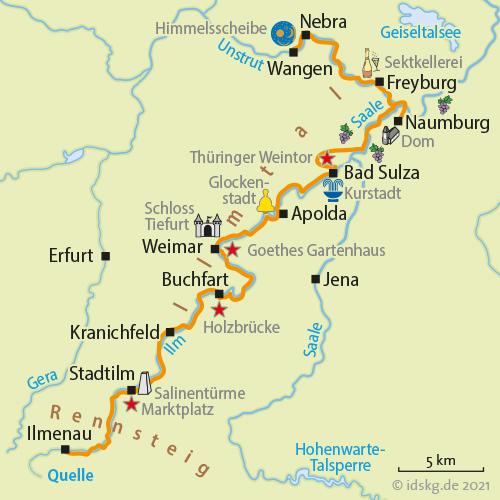 Saale Radweg Karte Pdf.Ilmtal Saale Radweg Radreise Radurlaub Radtour Ilmtal