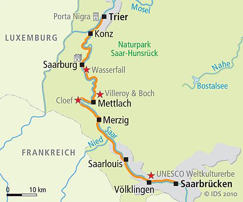 Saar bike trail  Saarbrcken  Trier  Velociped