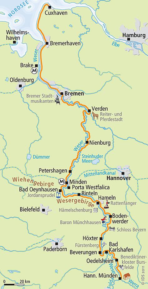 Weser Radweg Karte Pdf.Weser Radweg Route Selbst Planen Radreise Velociped