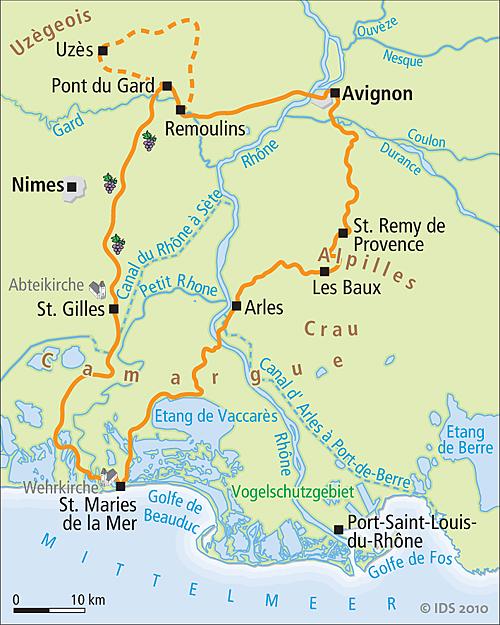 Camargue Karte.Provence Camargue De Luxe Radreise Radurlaub Velociped