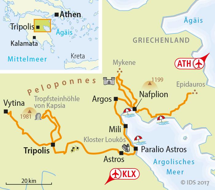 Karte Griechenland Peloponnes.Peloponnes Radreise Griechenland Radurlaub Radtour Velociped