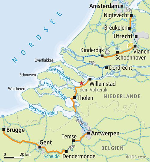 Karte Von Holland Und Belgien.Amsterdam Brugge Rad Schiff Ms Magnifique 2 Radwege In