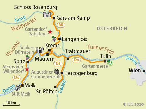 Wachau Karte.Wachau Sternradtour Radreise 5 Tage Velociped