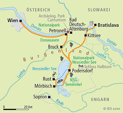 Neusiedlersee österreich  Wien-Neusiedlersee-Bratislava - Radreise 7 Tage – Velociped