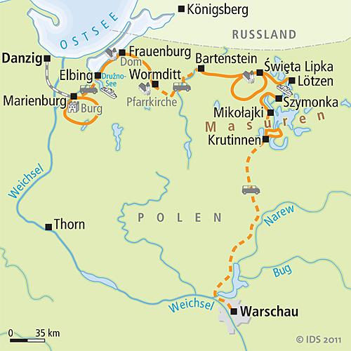Danzig Marienburg Masuren Gefuhrt Velociped