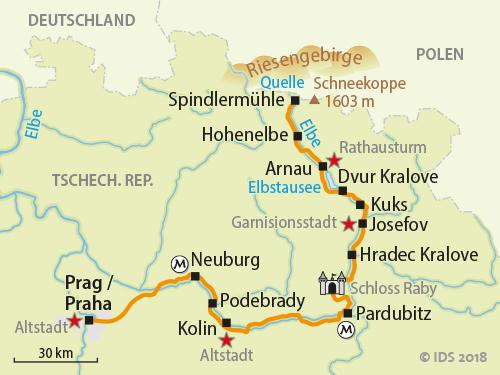Prag Karte Europa.Elbe Bis Prag Elbe Radweg Bis Prag Velociped